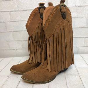 Very Volatile Fringe Western Cowboy Boots 8